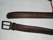 BECKETT SIMONON Brown Pebble Leather Belt - 34 - Rare Hard to Find - NWOT