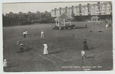 Edwardian Mixed Doubles Tennis, Bexhill-on-Sea:~1903(Est) Vintage PPC, Used 1921