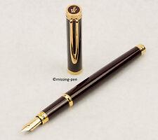 Waterman Fountain Pen Gentleman in Bordeaux-Gold with 18C F-nib