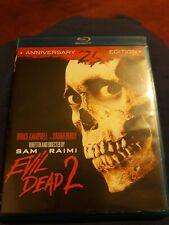 Evil Dead 2: Dead by Dawn Blu-ray Disc 2011 25th Anniversary Edition Horror Dvd