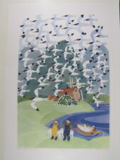 Rie Munoz Signed/Numbered Ltd Edition Serigraph - Arctic Terns, Dry Bay 340/750