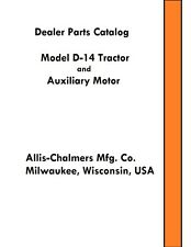 Allis Chalmers D14 Tractor Parts Catalog Book Reproduction