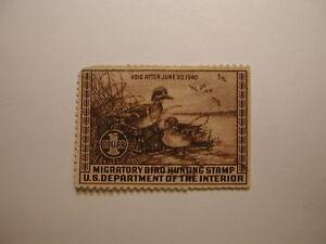 US Department of Interior Scott #RW6 Green-winged Teal Ducks Stamp 1939, U