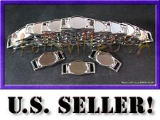 100 Blank Oval Shoelace CHARMS ONLY - NO Epoxy Domes - For Paracord Bracelets!