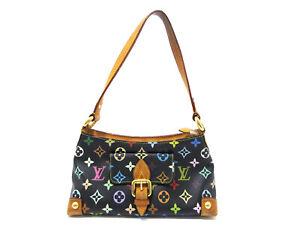 Auth Louis Vuitton Monogram Multicolor Eliza M40099 Shoulder Bag Noir 86424