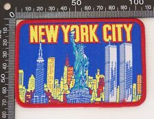 VINTAGE NEW YORK CITY USA EMBROIDERED SOUVENIR PATCH WOVEN CLOTH SEW-ON BADGE