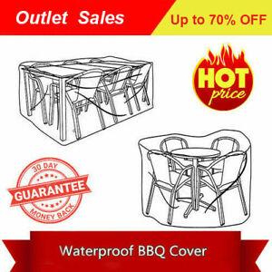 Sun UV block Waterproof Patio Table Chairs Furniture Set Cover Grey 255x255x72cm