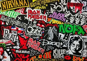 Embroidered Band Patches - Iron On - Rock, Metal, Punk & Reggae