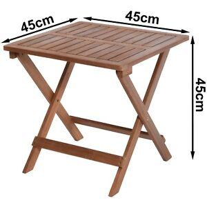 Gartentisch Campingtisch Beistelltisch Balkontisch Akazienholz 45x45x45cm V330