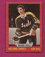 1973-74 OPC # 110 SEALS HILLIARD GRAVES  ROOKIE  EX+  CARD (INV#2261)