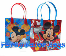 12 pc Mickey Mouse Party Favor Bags Candy Treat Birthday Durable Loot Gift Bag