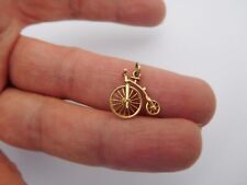 Authentic 1900 14K Gold Penny Farthing Bicycle Eckfeldt Ackley Pendant Charm 🚴