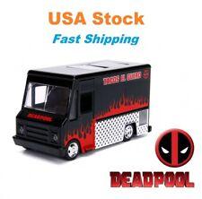 """Hollywood Rides Deadpool Taco Truck Marvel Avengers Diecast Car Jada 4.5"""" 1:32"""