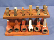 Pipe Rack Holder Stand w/ 11 Pipes Medico Ventilator Guardsman Kaywoodie Filter