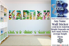 Disney Personalized Name  Wall Art Sticker Children's room décor large
