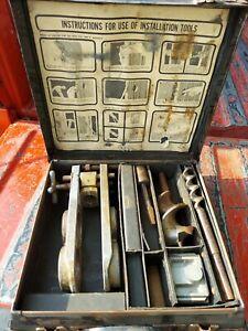 vintage Kwikset Locksets Installation Kit In Case sharp bits check photo please