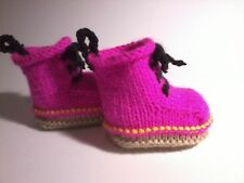 MODERN BABY DOC BOOTS / BOOTEES / BOOTIES, VERY EASY KNITTING PATTERN, 3 SIZES