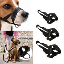 Nylon Dog Muzzle for Large Dogs Prevent from Biting Adjustable Black