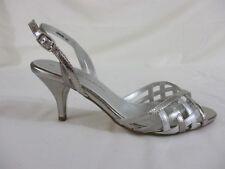 Dorothy Perkins Open toe sling backs. Uk 5. 2 tone silver. Kitten heel. Wedding.