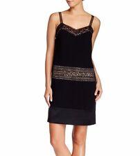 DVF Diane Von Furstenberg $299 Black Judy Embellished Silk-Satin Dress P NWT