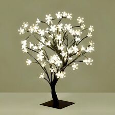 45 Cm Bonsai Xmas Tree 64 LED Cherry Blossom Gift Table Lamp Battery Operated