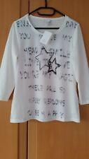ALBA MODA Langarm-Shirt im Sternenprint allover stein/grau  Gr. 36  Weiß