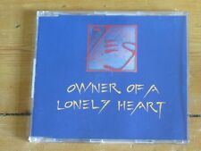 """YES Owner of a Lonely Heart (4 track CD single) 80s 90s 12"""" remixes"""