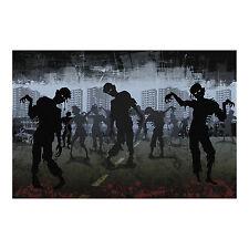 Halloween ZOMBIE backdrop wall banner prop DECORATION WALKING DEAD Apocalypse