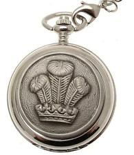 Double Hunter Pocket Watch Prince Of Wales Feather Skeleton Movement