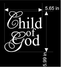 Christian VINYL decal / sticker CHILD OF GOD  wall art  FREE US Ship