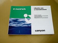 LIBRETTO USO E MANUTENZIONE CAGIVA CANYON 500.