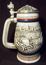Vintage AUTOMOBILES - 1979 AVON Lidded Pear Shaped Beer Stein A03