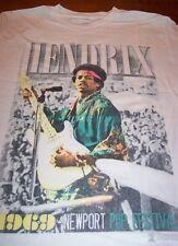 JIMI HENDRIX 1969 NEWPORT POP FESTIVAL T-Shirt MEDIUM NEW