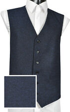 (WW1050/1 ) Navy polyester blend fancy Waistcoat Vest  4 Kilts  SALE 2 Clear £29