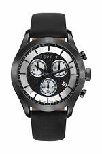 Esprit Men's Watch Es-Matthew Black Stainless Steel Date Leather Analogue