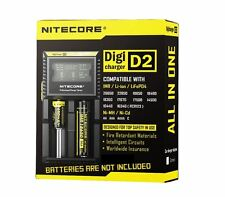 NITECORE D2 LCD INTELLICHARGE 18650 18350 26650 UNIVERSAL IMR BATTERY CHARGER