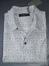 BNWT Mens All Saints Morphine Short Sleeve Shirt Size S in Lunar Grey £80