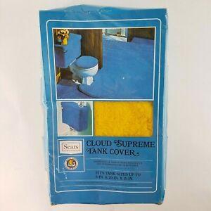 VTG Sears Shag Carpet Bathroom Toilet Tank Cover Cloud Supreme Sunflower Gold