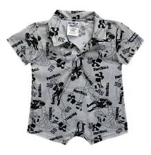 Oshkosh B'gosh Football Mania Print Collared Romper Infant/Baby Boy Clothes, 12M