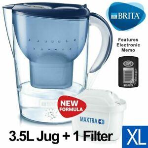 NEW BRITA Marella XL MAXTRA+ Plus 3.5L Water Filter Table Jug - 1 Cartridge Blue