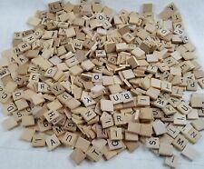 Huge Lot Of Over 700 Wooden Wood Scrabble Tiles crafts scrapbooking art project