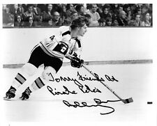 Bobby Orr Bruins Signed 8x10 Horizontal Skating Photo, Personally Witnessed