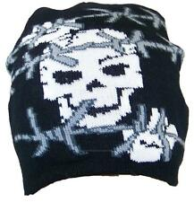 Y&W Skull with Barb Wire Soft Knit Winter Hat, Cap, Stocking,Toboggan. # 817