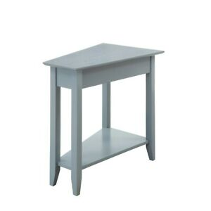 Convenience Concepts American Heritage Wedge End Table, Gray - 7105060GY