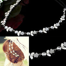 Elastic Fashion Rhinestone Head Chain Jewelry Bridal Headband lovely Hair band
