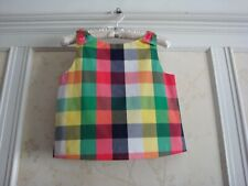 NWT Janie And Jack Midsummer Garden Girls PLAID TOP  12