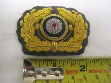 Army General Visor Cap Wreath and Cockade - WW2 Repro Badge