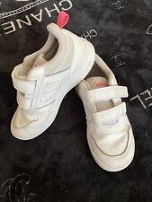 GIRLS ADIDAS WHITE/PINK VELCRO TRAINERS - size UK 12 KIDS