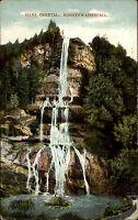 Okertal im Harz Colorkarte ~1910 Partie am Romker Wasserfall Fels Waterfall Fall