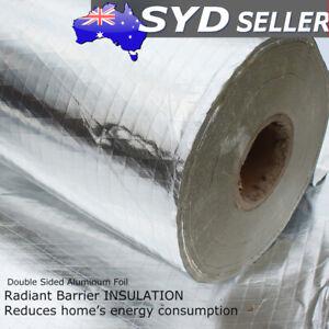 Radiant Barrier Shed Attic Solar Reflect Foil Wrap Insulation Energy efficient